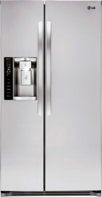 LG 26.2 cuft Side by Side Refrigerator Stainless Steel Cairnbrook