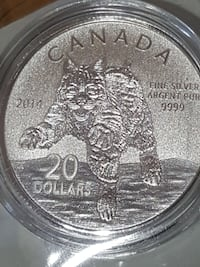 Bobcat pure silver limited edition coin Canada
