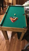 Child's Foosball/pool table - all balls included
