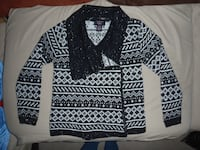 Black and White Tribal Print Cardigan Front Royal