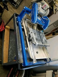 Commercial tile saw and cart