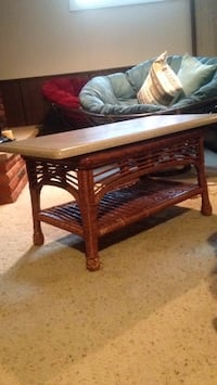 Wicker Coffee Table with Corrian top Billings