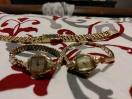 Three Gold watches Bulova