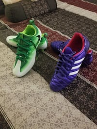 pair of green-and-purple Adidas cleats New Berlin, 53151