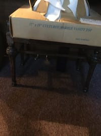 """17"""" by 19"""" cultured marble vanity top box New York, 11370"""