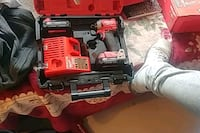 red and black Milwaukee cordless power drill Surrey, V3T 2X3