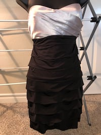 Brand new with tags- black and white silky dress- size small Riverside, 92503