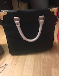 Black and pink leather tote bag Brossard, J4W 2L5