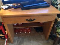 brown wooden single drawer side table Montréal, H4A 3B9