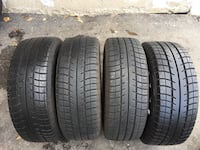 Set of 4 winter tires and rims good condition size 205/55/16 Brampton, L6R 3M6