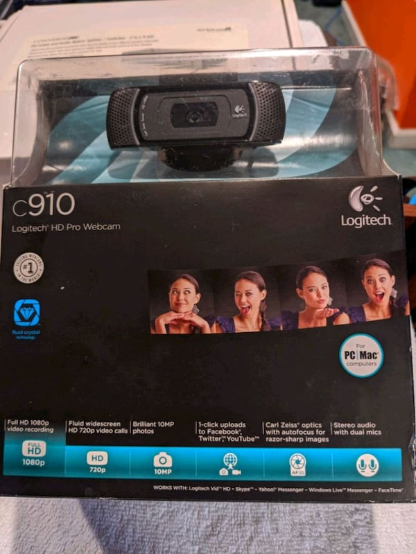 Sold Logitech C910 Hd Pro Webcam In Wonder Lake Letgo