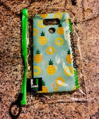 Green, yellow, and white pineapple print lg G6
