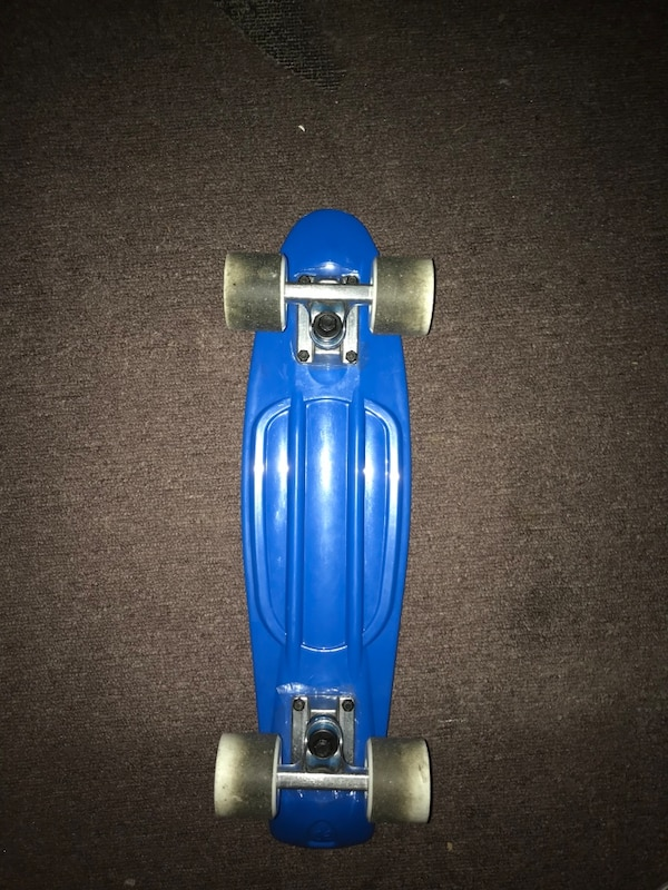 blue and gray kick scooter