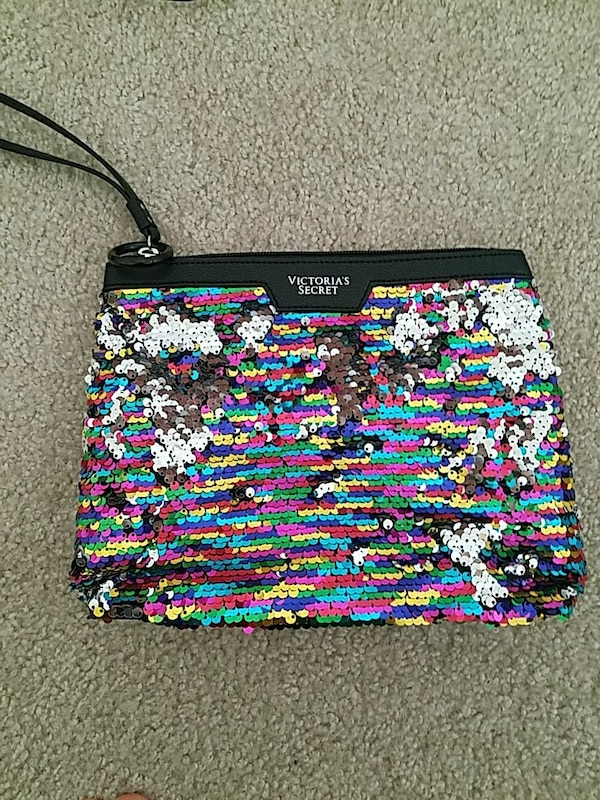 be0342f56dfc56 Used Multicolored sequins Victoria's Secret wristlet for sale in ...