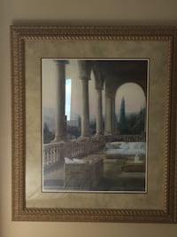 Patio picture with antique brown/golden wooden frame. Mississauga, L5N 5J2