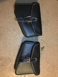 Black and blue leather crossbody bag Hoffman Estates, 60169