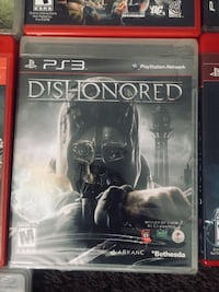 Dishonored 2 PS3 game case Los Angeles, 91352