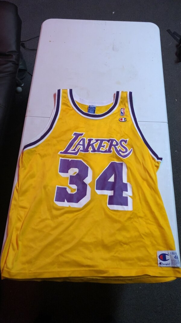 pretty nice c44c1 0b683 Authentic Champion Shaquille O'Neal Lakers Jersey