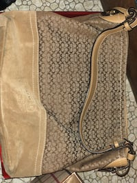 brown and black leather bag Winthrop, 02152