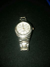 round silver-colored analog watch with link bracelet Bessemer, 35020
