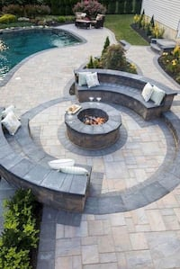 PAVER-FIRE PIT-RETAINING WALL