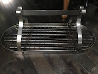 Large stainless steel pot rack!