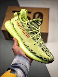 pair of yellow Adidas Yeezy Boost 350 V2 Monterey Park, 91755