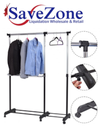 New- Adjustable Garment Extendable Clothes Rail Rack Hanger Mississauga