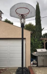 white and black basketball hoop Los Angeles, 91411