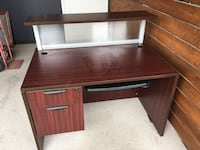brown wooden single pedestal desk Vancouver, V6J 1Z4