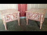 two brown wooden side tables 1130 mi