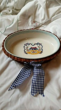 Ceramic casserole dish and serving basket  Jacksonville