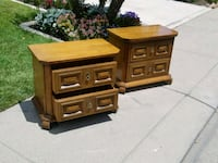 brown wooden 2 drawers end tables Modesto, 95356