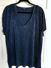 Ladies George Plus Midnight Blue V-Neck Top 2X Toronto, M5M
