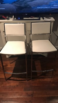 Two white high top chairs New York, 11223