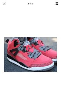 "NIKE JORDAN SPIZ'IKE ""TORO BRAVO"" GYM RED/BLACK-GREY SIZE 10"