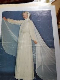 Free wedding dress with 9 foot attached train,  Vaughan