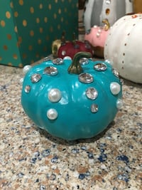 Small turquoise bedazzled pumpkin  Alexandria, 22315
