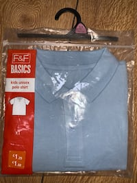 Unisex blue school polo shirt size 8-9 years new with tags  Birmingham, B42 1SH