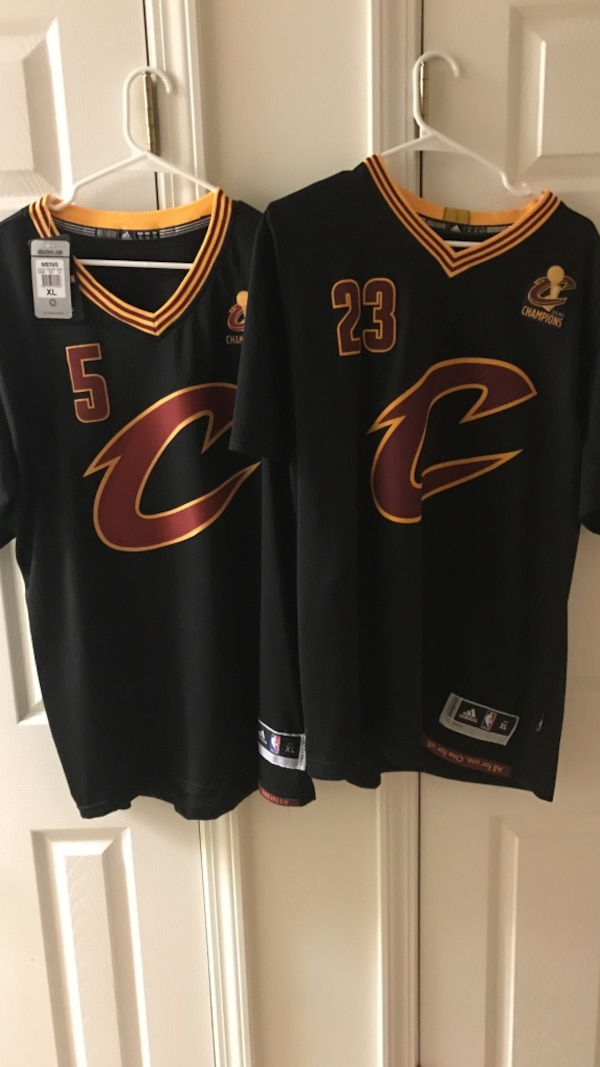 huge discount bf0f9 112c4 two Cleveland Cavaliers 23 jersey