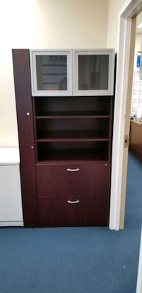 Wardrobe with drawers, glass doors
