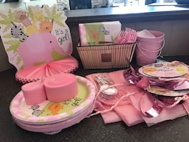 Baby Shower items for a baby girl