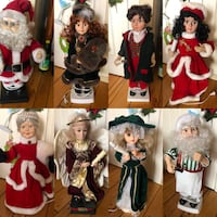 Xmas Dolls Variety electric 24 inches high 25.00 each or 2 for $40.00 Laval, H7C 2H3
