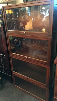 brown wooden display cabinet Richmond, 23220