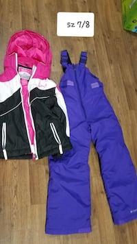 GIRLS SZ 7/8 COAT AND SNOW BIBS Thurmont