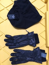 Pair of black leather gloves and neck wrap West Sacramento, 95605