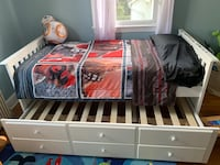 Trundle twin sized bed