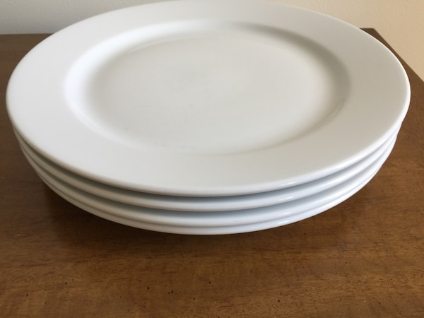 Large white dishes. 4 for $2.00