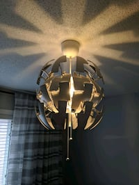Ceiling lamp white and silver