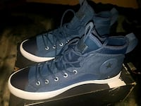 pair of blue high-top sneakers Burnaby, V5C 0A8
